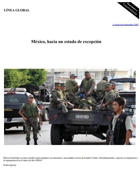 México, hacia un estado de excepción