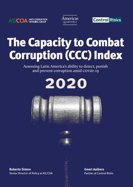The Capacity to Combat Corruption (CCC) Index 2020
