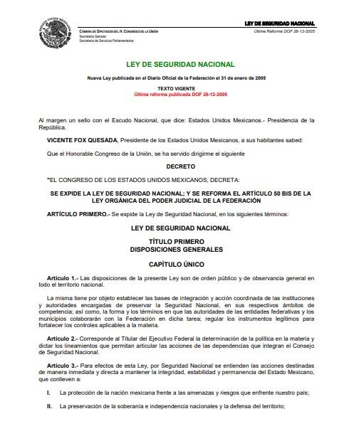 Ley de Seguridad Nacional 2005