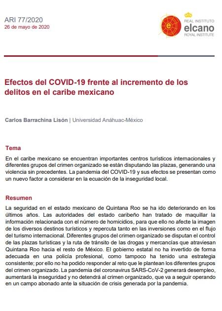 Efectos del COVID-19 frente al incremento de los delitos en el caribe mexicano