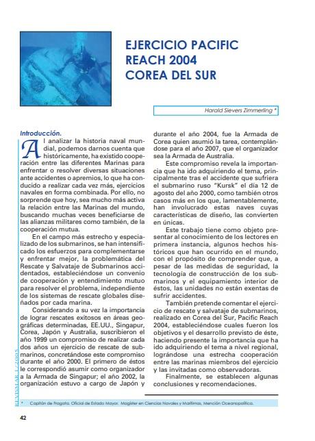 Ejercicio Pacific Reach 2004 Corea del Sur