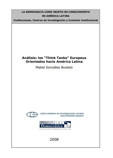 Los think tanks europeos orientados hacia América Latina