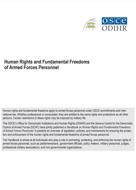 Human Rights and Fundamental Freedoms of Armed Forces Personnel