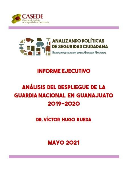 Análisis del despliegue de la Guardia Nacional enGuanajuato2019-2020