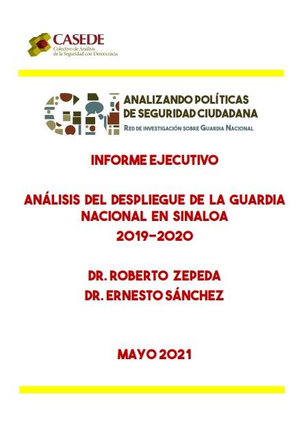 Análisis del despliegue de la Guardia Nacional en Sinaloa2019-2020