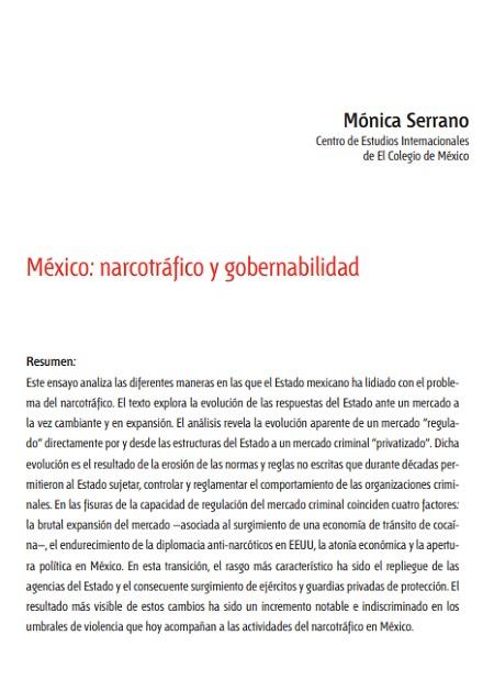 México: Narcotráfico y gobernabilidad