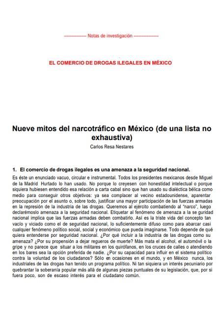 Nueve mitos del narcotráfico en México (de una lista no exhaustiva)