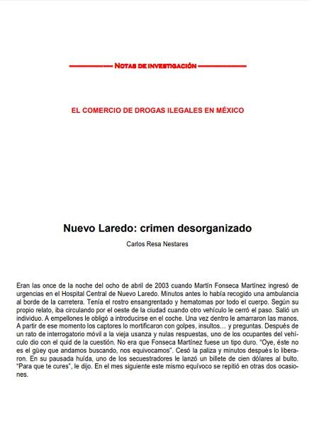 Nuevo Laredo: Crimen desorganizado