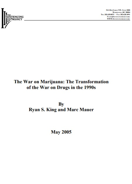 The War on Marijuana: The Transformation of War Drugs in the 1990's