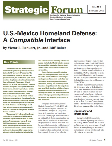 U.S.-Mexico Homeland Defense: A Compatible Interface